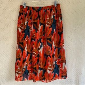 Who What Wear For Target Pleated Floral Midi Skirt